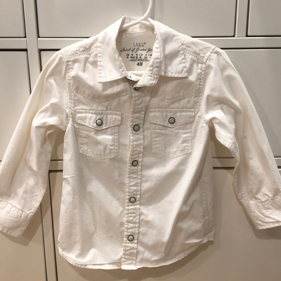 H&M Other - H&M Off white kids bottom down shirt